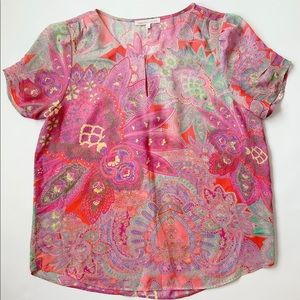 Daniel Rainn Sheer Blouse Size L Boho Inspired